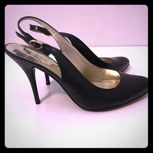 Ladies Guess Leather Pump Sling Back 6 1/2